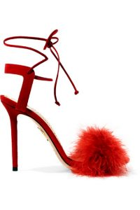 Schuhe mit Federdetails für Silvester