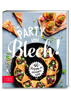 "Buchcover ""Party vom Blech""."