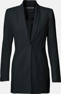 Langer Blazer in Schwarz von Ashley Brooke