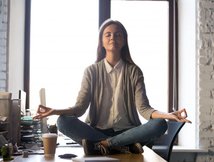 Meditieren in der Mittagspause