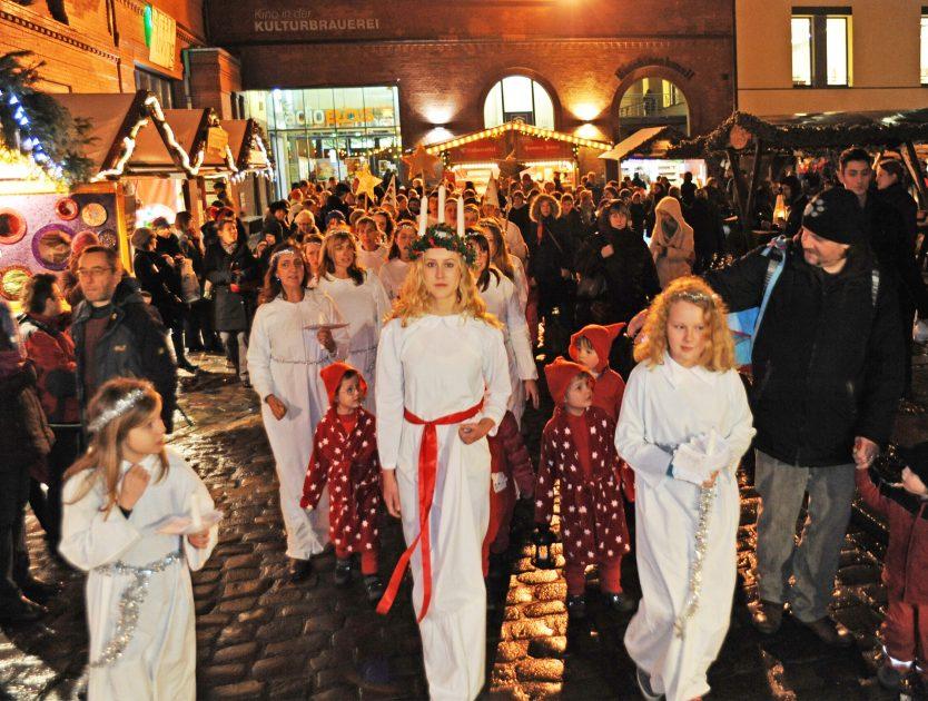 Skandinavisches Weihnachtsfeeling auf dem Lucia Weihnachtsmarkt